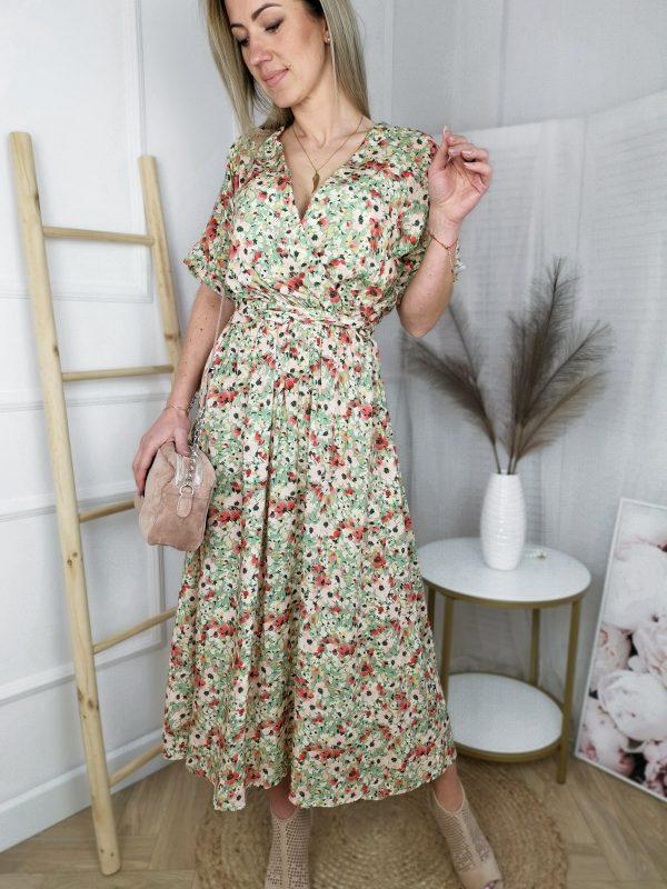 Sukienka Batist Floral Green