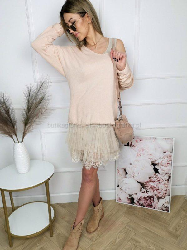 Sweter Dafni Oversize Brzoskwiniowy PSX 20210125 005112