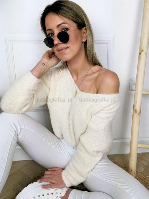 Sweter Miracle Alpaka Bananowy