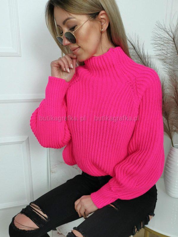 Sweter Mili Neon Fuksja