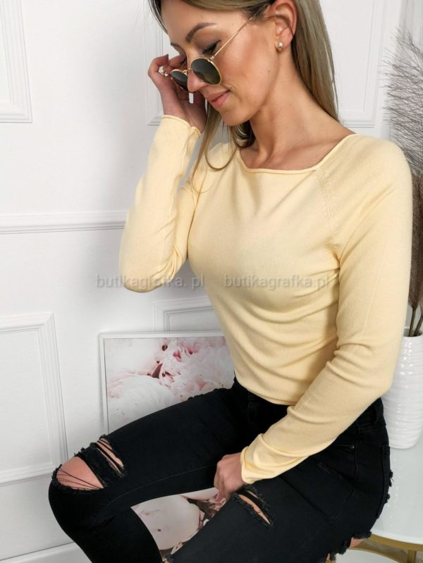 Bluzka Sweterek Basic Bananowy PSX 20210204 215706