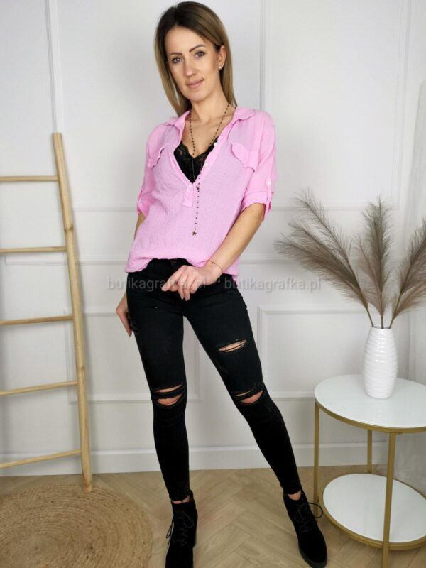 Bluzka Koszulowa Melisa Róż