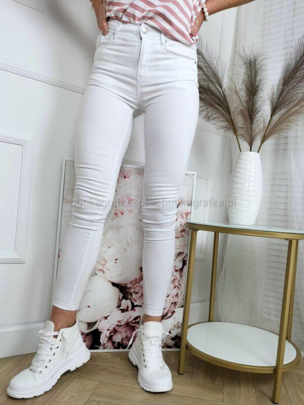 Spodnie Jeansy Denim White Push up