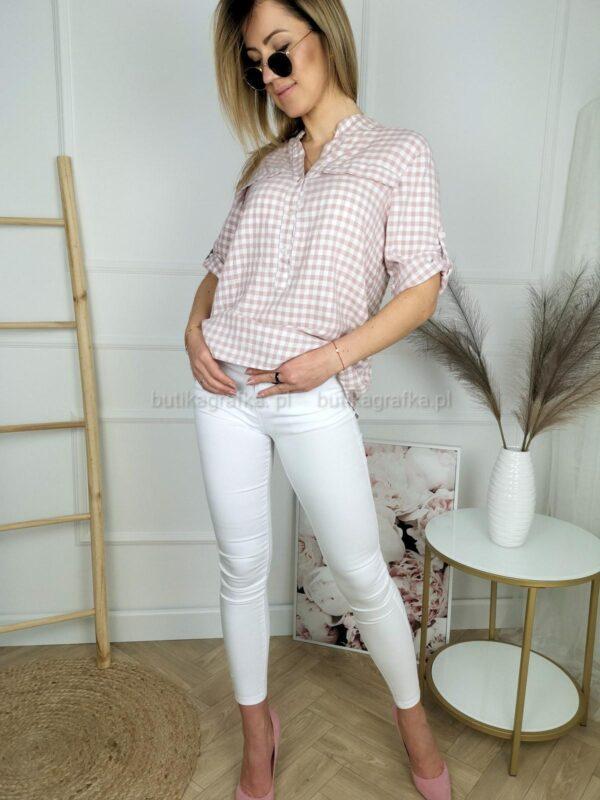 Bluzka Koszulowa Stripes Puder White