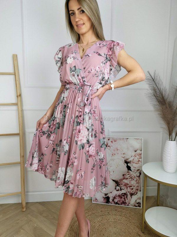 Sukienka Floral Dream Rose Short Sleeve