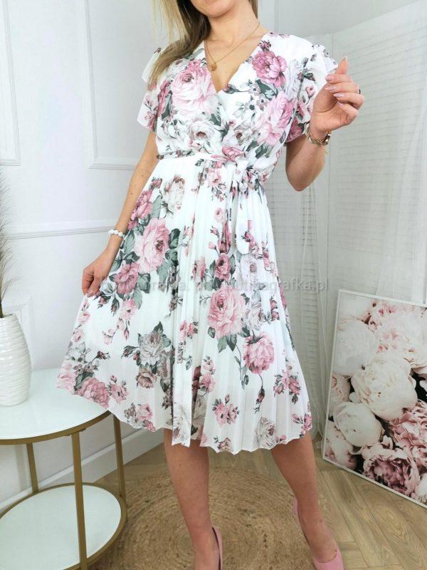 Sukienka Floral Dream White Short Sleeve PSX 20210507 005141