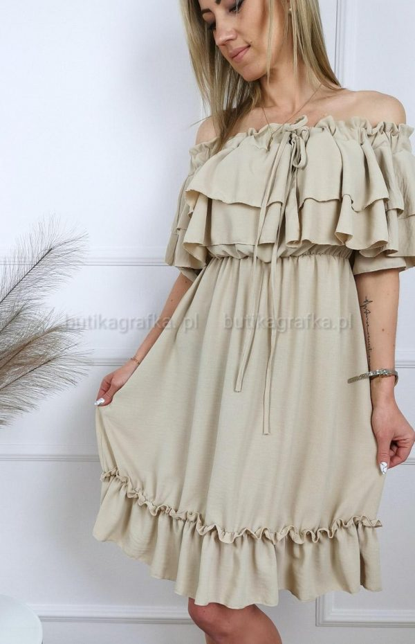 Sukienka Hiszpanka Romans Beige PSX 20210521 003730